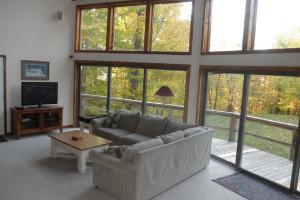 Vacation rental living room at Killington Accommodations.