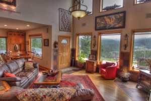 Vacation rental living room at SkyRun Vacation Rentals - Nederland, Colorado.