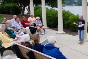 Outdoor meeting at Terrace Hotel Lake Junaluska.