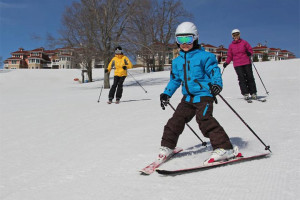 Skiing at Crystal Mountain Resort and Spa.