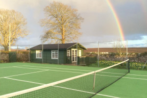 Tennis court at Mackeanston House.