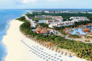 Aerial view of Valentin Imperial Riviera Maya.