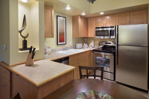 Guest kitchen at Holiday Inn Club Vacations Lake Geneva Resort.