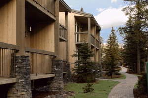 Exterior view of Tunnel Mountain Resort.