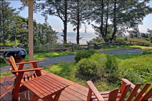Porch view at Ocean Crest Resort.