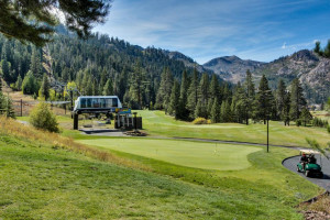 Golf course at Vacasa Rentals Lake Tahoe.
