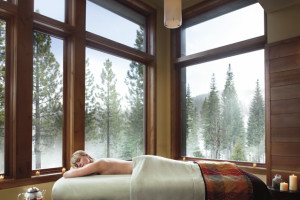 Spa massage at Ritz-Carlton Lake Tahoe.