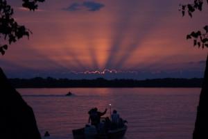 Sunrise at Ten Mile Lake Resort.
