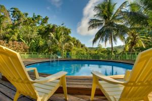 Outdoor pool at Maya Mountain Lodge & Tours.