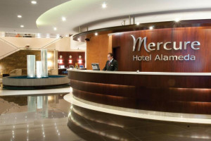 Lobby at Mercure Hotel Alameda.