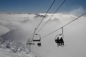 Skiing near Red Tree Lodge.