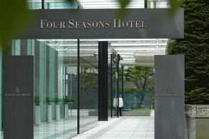 Entrance at Four Seasons Hotel Tokyo.