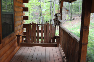 Cabin deck at Cabin Fever Resort.
