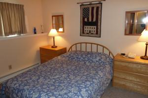 Vacation rental bedroom at Killington Accommodations.