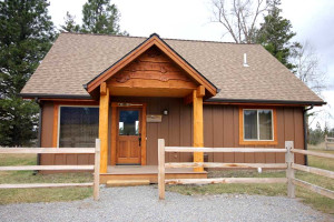 Cabin exterior at Gentry River Ranch.