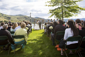 Wedding at Campbell's Resort on Lake Chelan.