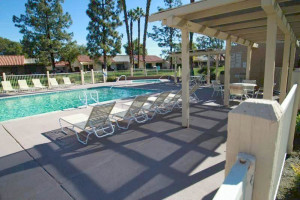 Outdoor pool at Country Club and Resort Rentals.