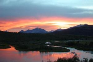 Sunset at Duck Lake Lodge.