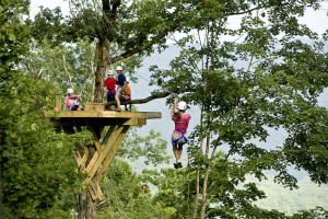 Zip lining at Buffalo Outdoor Center.