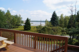 Rental deck at Pocono Mountain Rentals.
