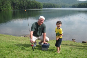 Fishing at Mountain Vista Rentals.