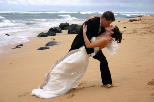 Beach wedding at Ocean View Resort.