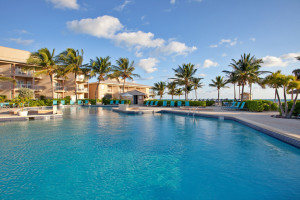 Outdoor pool at Holiday Inn Resort Grand Cayman Hotel.