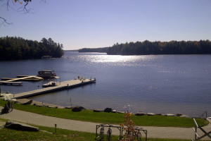 Lake view at JW Marriott The Rosseau Muskoka Resort & Spa.