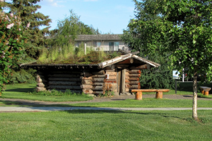 Miner's Log Cabin near Bear Lodge.