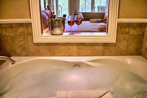 Guest hot tub at Poets Cove Resort & Spa.