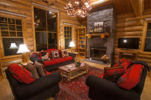 Rental living room at Rendezvous Mountain Rentals & Management.