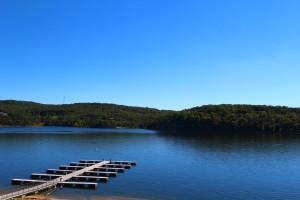 Lake dock at D'Monaco Luxury Resort.