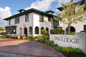 Exterior view of 1906 Lodge At Coronado Beach.