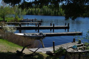 Boat docks at Mattila's Birch Lake Resort.