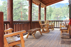 Mountain Home deck at Amberwood.