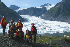 Hiking at Kenai Fjords Glacier Lodge.