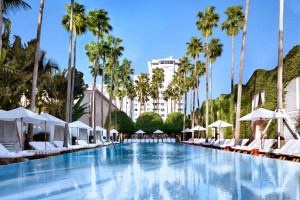 Outdoor pool at Delano South Beach.