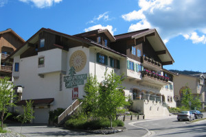 Exterior view of Sun Peaks Lodge.