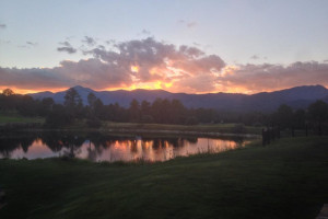 Sunset at Hummingbird Cabins.