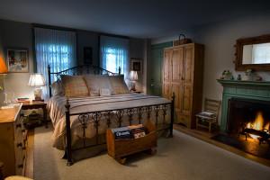 Guest room at Bishopsgate Inn.
