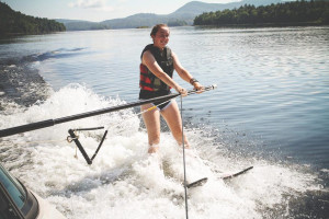 Water skiing at Timberlock.