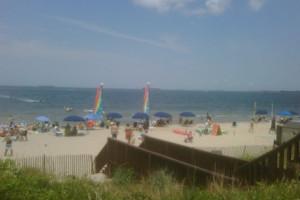 Beach view at Virginia Beach Resort Hotel.