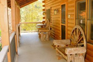 Deck View at Rivers Ridge Lodge