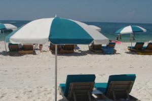 The beach at Perdido Beach Resort.