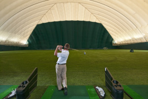 Indoor Golf/Tennis Dome at Turning Stone Resort Casino