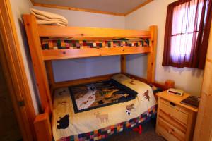 Guest bunk bed at Zippel Bay Resort.