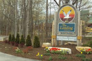 Entrance at The Landing Resort.