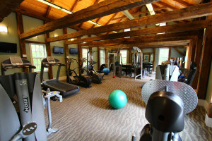 Fitness center at Basin Harbor Club.