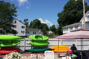 Kayaks at Windrifter Resort.