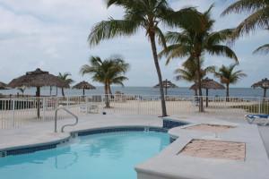 Outdoor pool at Crystal Bay Resort.